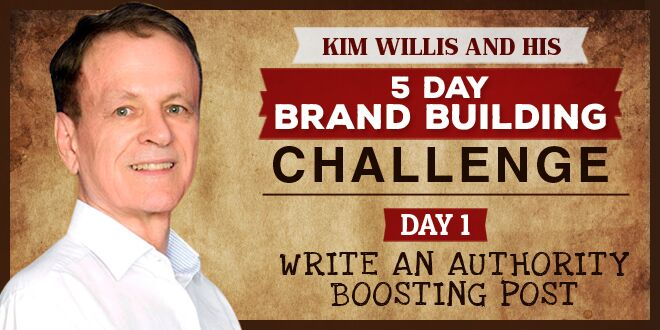 5 Day Brand Building Challenge. Day 1