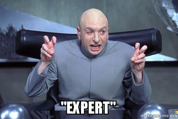 "Dr Evil: ""Expert"""