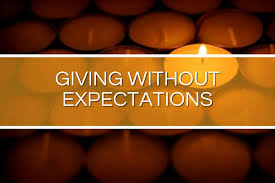Giving Without Expectations Graphic
