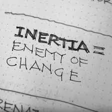Which option is the best definition of inertia